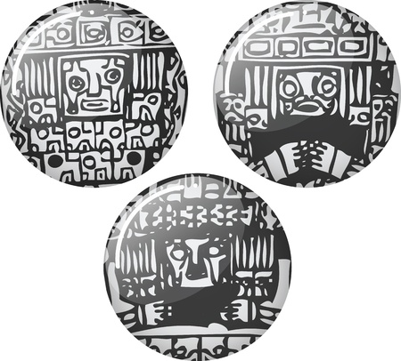 inca: American culture icon. Vector illustration