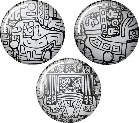 paracas: American culture icon. Vector illustration