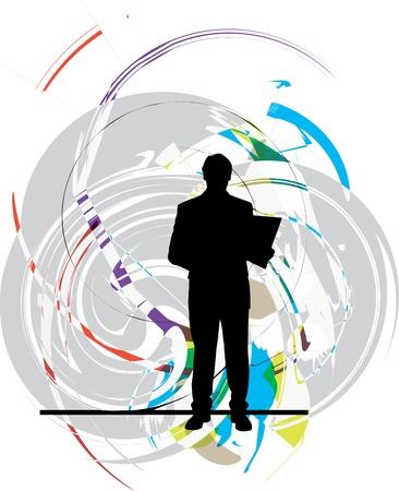 Businessman vector illustration Stock Vector - 10806884