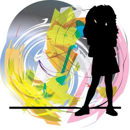 Girl illustration Stock Vector - 10806967
