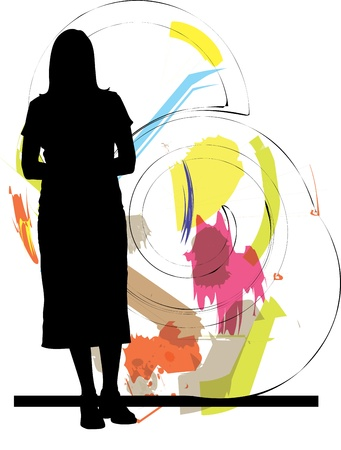 shopfront: woman vector illustration Illustration