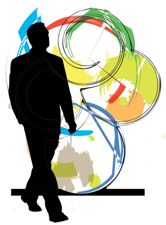 Businessman vector illustration Vector