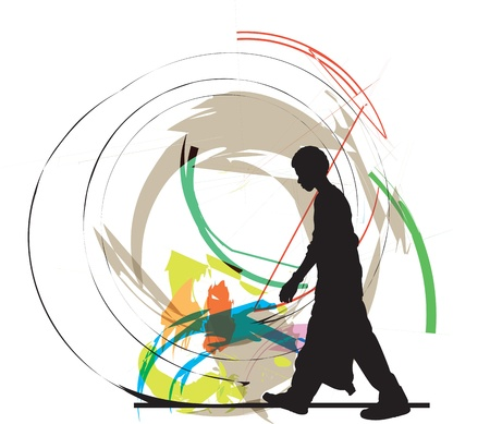 teenager vector illustrator Vector