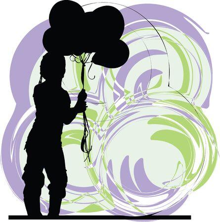 balon: Girl illustration Illustration