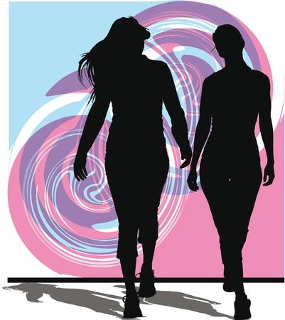 naughty woman: women vector illustration Illustration