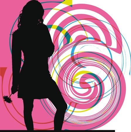 skirt suit: woman vector illustration Illustration