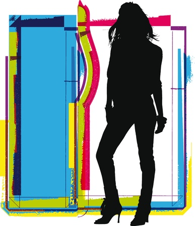 supermodel: woman vector illustration Illustration