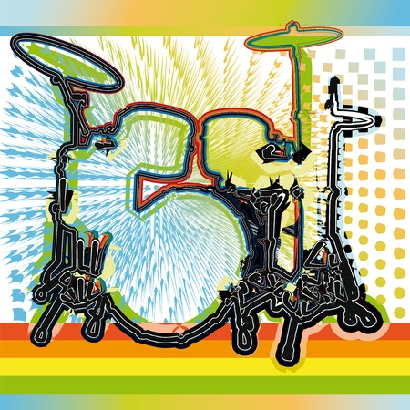 bass drum: music festival. Vector illustration Illustration