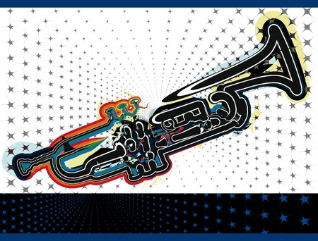 trombones: music festival. Vector illustration Illustration