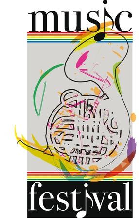 decibels: music festival. Vector illustration Illustration