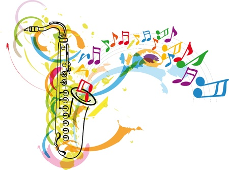 saxophone: music festival. Vector illustration Illustration