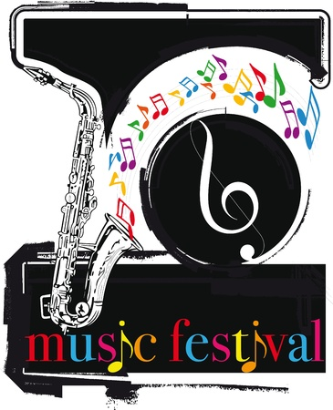 music festival. Vector illustration Vector
