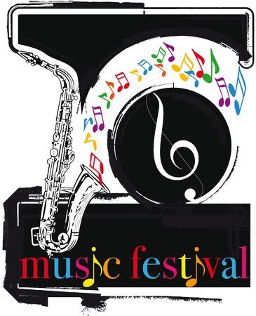 accords: music festival. Vector illustration Illustration