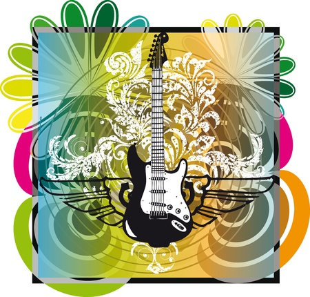 Electric guitar design. Vector illustration Vector