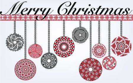 Ancient Christmas balls Stock Vector - 10806968