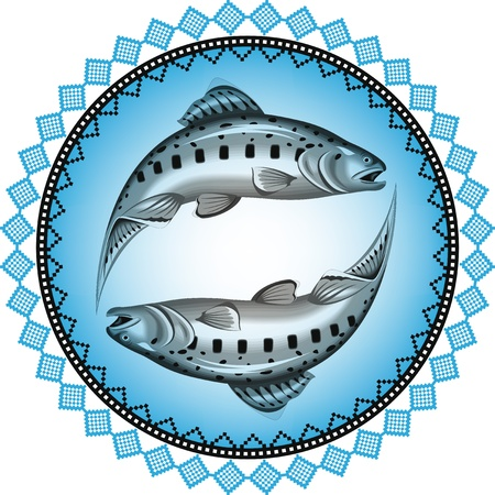 seafood dinner: Fish illustration