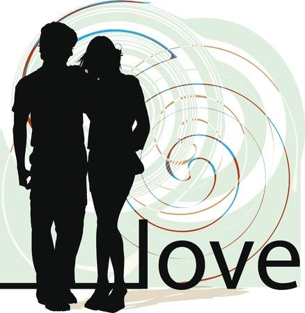 love couple: Couple illustration