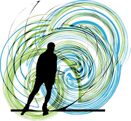 Skater illustration Stock Vector - 10806943