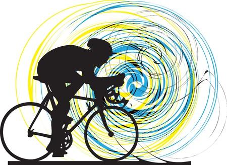 Abstract schets van biker