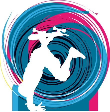 Abstract sketch of skater Vector