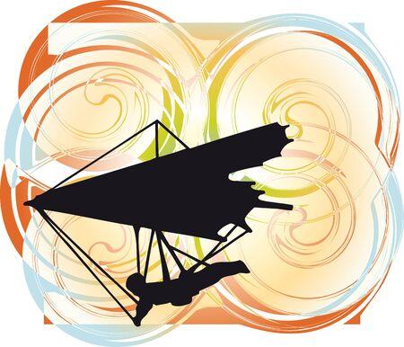 Hang Glider. Vector Illustration Illustration