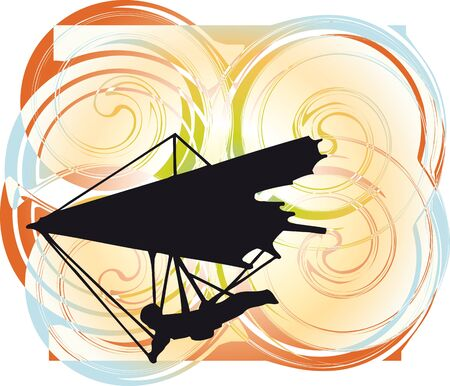 Deltaplano. Illustrazione Vettoriale