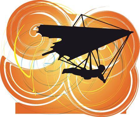 diagonals: Hang Glider. Vector Illustration Illustration