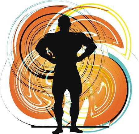 Male body builder vector illustration Vector