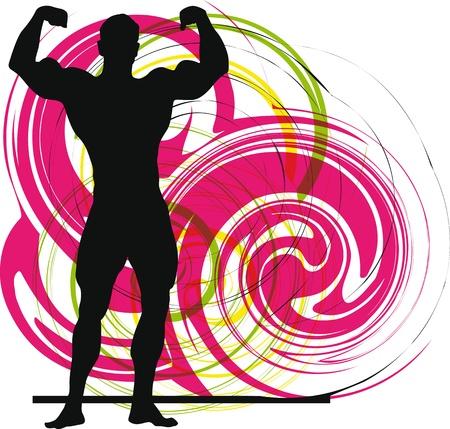Constructor del cuerpo masculino ilustración vectorial