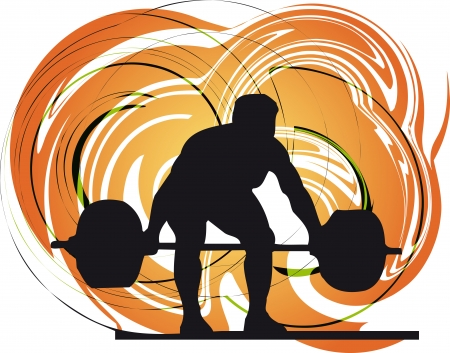 workout gym: Male body builder vector illustration