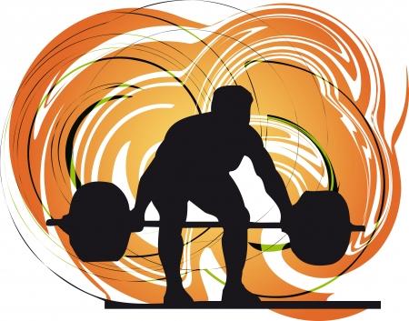 lifting: Mannelijk lichaam bouwer vector illustratie Stock Illustratie