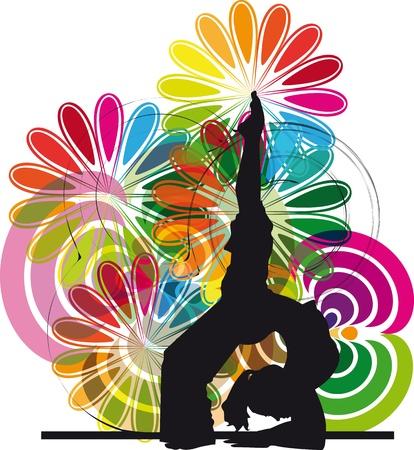 Yoga illustration Stock Vector - 10806792