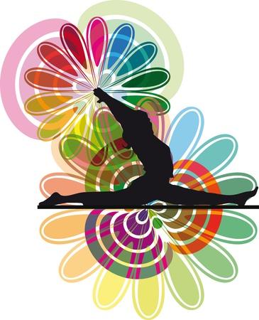 Yoga illustration Stock Vector - 10806768