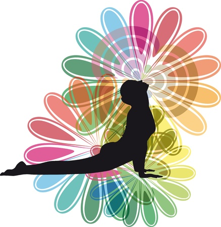 Yoga illustration Stock Vector - 10806794