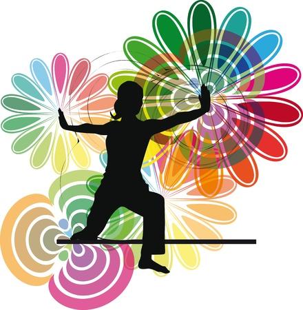 Yoga illustration Stock Vector - 10806762
