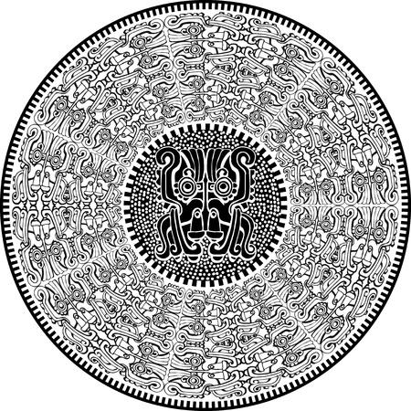American culture background. Vector illustration Vector