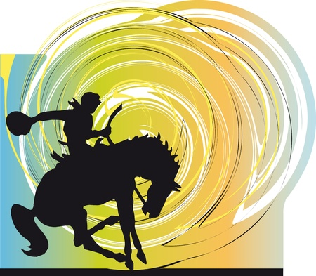 Abstract horses silhouettes. Vector illustration Illustration