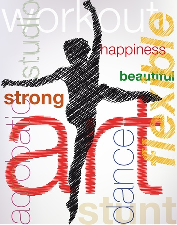dancing, vector illustration Stock Vector - 10841935