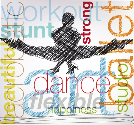 Dancing, vector illustration Stock Vector - 10842291