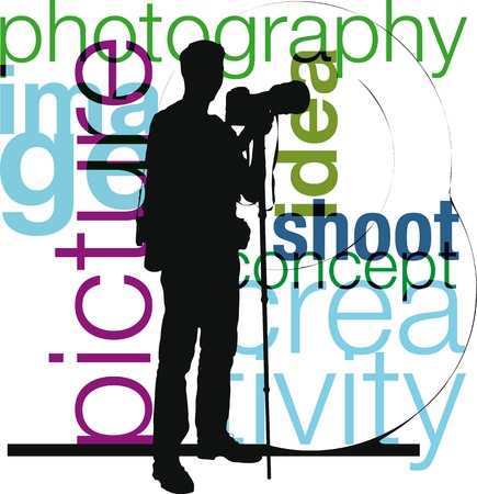 Photographer illustration Vector