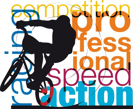 Male on a bicycle Stock Vector - 10858529