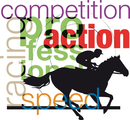 Horses and riders silhouettes Vector