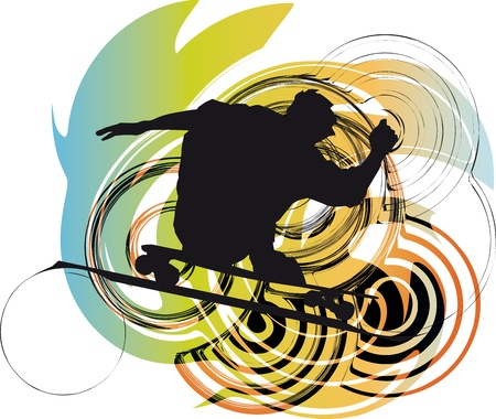Skater illustration illustration Stock Vector - 10858573