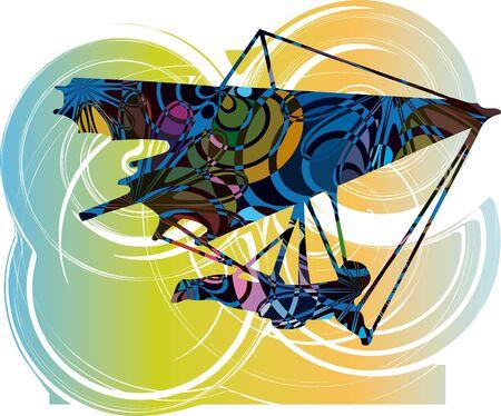 diagonals: Hang Glider illustration