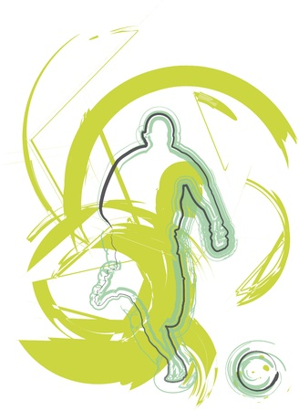 goal kick: Football player. Vector illustration