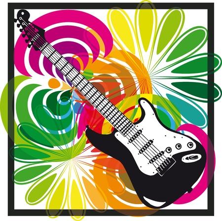 instrumental: Electric guitar design. Vector illustration Illustration