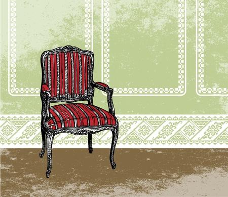 Inter design scene with an armchair Stock Vector - 10842314