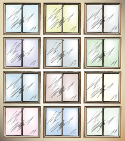 Windows. Vector illustration Vector