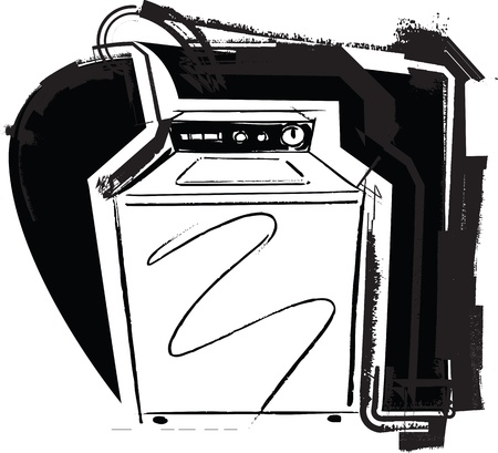 washing machine. Vector illustration Vector