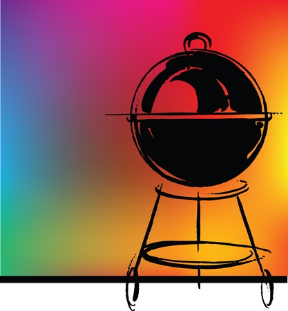 barbecue fire: BBQ vector illustration